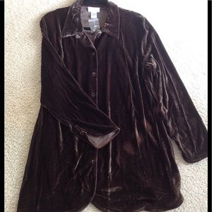 Soft Surroundings velvet blouse